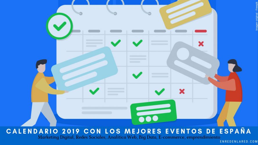 Calendario 2019 eventos de marketing digital